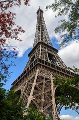 La Tour Eiffel (Plotz Photography) Tags: travel trees paris france tower monument up spring nikon iron europe tour steel famous eiffeltower landmark eiffel toureiffel lattice parisian worldtravel d5100