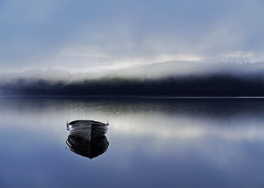DREAMBOAT (explore) (kenny barker) Tags: morning mist composite lumix dawn scotland boat explore loch lochard lochrusky panasoniclumixgf1 kennybarker
