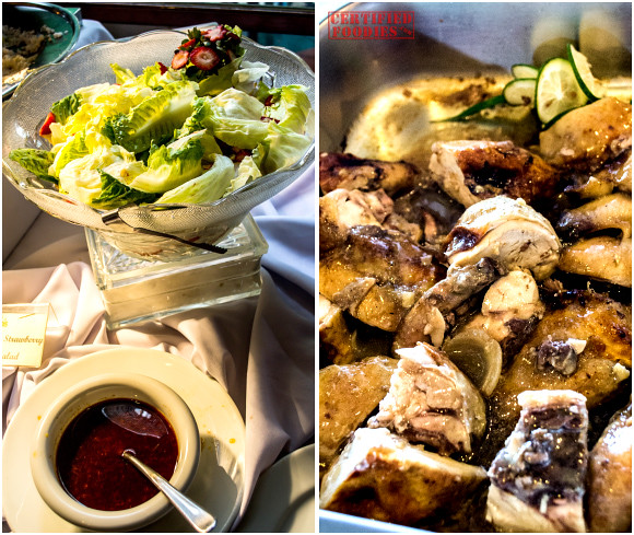 Mario's Nutty Strawberry Salad and Roast Chicken with Lemon and Garlic