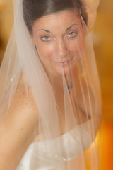 R-K Wedding 2011, veiled blue eyes