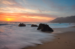 California Sunset (ashlynne.herrin) Tags: ocean california longexposure sunset sun water coast waves tides northcoast