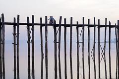 U Bein Bridge (Steve Dinicol) Tags: bridge sunrise dawn asia burma bein u myanmar southeast mandalay