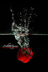 Splash (NQDavies Photography) Tags: water fruit speed high flash bubbles drop splash lowkey highspeed
