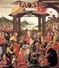Domenico Ghirlandaio, Adoration of the Magi (detail), 1488, Tempera on wood, Spedale degli Innocenti, Florence (Emme Debi) Tags: art domenico ghirlandaio quattrocento