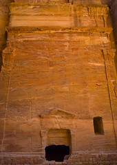 Tomb In Petra, Jordan (Eric Lafforgue Photography) Tags: rock vertical stone architecture outdoors photography ancient day pattern religion tomb petra middleeast entrance nobody nopeople unescoworldheritagesite jordan arabia geology thepast historicalsite traditionalculture eroded rockformation nabataean nabatean traveldestinations colorimage hashemitekingdomofjordan oldruin nonurbanscene lowangleview petrajordan builtstructure colourpicture archaeologicalcity