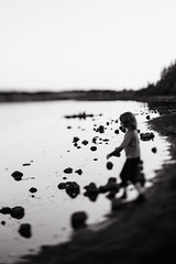 Solitude (Dalla*) Tags: boy portrait white lake black nature water evening solitude alone being task wwwdallais