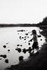 Solitude (Dalla*) Tags: boy portrait white lake black nature water evening solitude alone being task wwwdallais