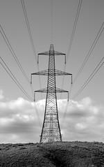 Pylon#3 (Teivel) Tags: sky clouds blackwhite energy power lancashire pylon powerlines burnley