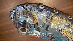 Engine Casing Close (PureGoldPlating) Tags: car engine scooter goldplated goldplating selectivegoldplating