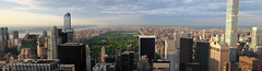 Panorama New York Central Park skyline viewed from Rockefeller Centre 70th floor (neeravbhatt) Tags: from park new york panorama skyline floor centre central rockefeller 70th viewed