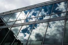 Cloud Building Reflections (pillarsoflight) Tags: blue windows cloud building beauty oregon 35mm reflections portland prime aperture nikon adobe pdx 18 pnw lightroom d3300