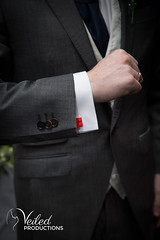 The lego cufflinks. Kat and Oli's wedding day - photography and videography by Veiled Productions - wedding photography and videography Cambridgeshire