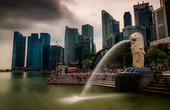 A storm is brewing... (jh_tan84) Tags: park city storm water brewing river landscape singapore merlion