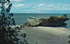 CEN Port Austin Caseville MI 1950s TITANIA PARK LOOSEMORE ROCK this Rocky Beachfront has be a FAMILY FUN spot for generations Loosemore Point  also called HAT POINT1 (UpNorth Memories - Donald (Don) Harrison) Tags: travel usa heritage history tourism vintage antique michigan postcard memories restaurants hotels trailer roadside upnorth cafes attractions motels cottages cabins campgrounds upnorthmemories rppc wonders michigan memories parks entertainment natural harrison roadside travel don tourist puremichigan stops upnorth