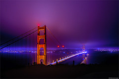 Golden Gate Bridge SF (Bluevisionart) Tags: sf california bridge sky skyline night golden nikon gate san francisco outdoor ni mystic 1424 nightfotographie d800e nikond800e