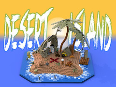 Desert Island - LEGO Ideas Projects (bradders1999) Tags: ocean new city sea tree brick film water tom digital movie skeleton castaway island shark boat sand support war ship treasure desert lego designer render pirates crab palm shipwreck pirate online wilson raft wars mermaid custom wreck vote ideas minifigure hanks moc ldd minifigures