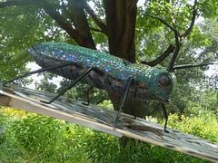Chicago, Lincoln Park Zoo, Sculpture, Mr. Big Beetle Finds His Way, 2015 (Sculptor: Jane Austin) (Mary Warren (6.8+ Million Views)) Tags: sculpture plants chicago art nature flora beetle lincolnparkzoo janeaustin