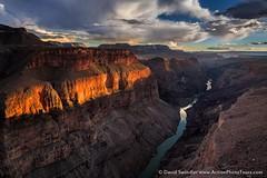 Toroweap Drama (David Swindler (ActionPhotoTours.com)) Tags: light sunset clouds grandcanyon canyon coloradoriver drama northrim toroweap tuweap