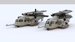 MH-53J and CH-53E (TheRookieBuilder) Tags: lego render helicopter rotors legodigitaldesigner ch53e mh53j bluerender