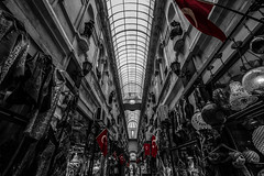 - Turkish Market - (Mr. LookUP) Tags: red urban architecture canon blackwhite colorful streetphotography wideangle flags 1022mm sincity urbanphotography blackandwithe 60d