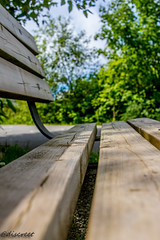 bench (discreet*(:[ )) Tags: field clouds canon bench photography photo dof mark ngc ii 7d 24mm depth f28 discreet