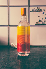 Calm Your Inner Soul (dewanggupta) Tags: shadow red orange abstract colour kitchen beautiful yellow creativity bottle amazing peace shadows bottles creative indoor calm inner indoors soul meditation quite abstracta calmness abstractphotography abstractphotograph