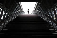 Stairway to Passerelle (Davit Khutsishvili) Tags: dkhphoto davitkhutsishvili paris france pont bridge passerelle solfrino passerelledesolfrino seine city architecture fine art stranger travel explore nikon d5100 50mm 2016