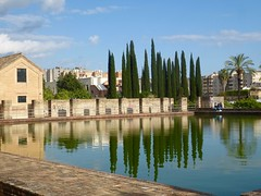 Jardines de La Buhaira (Miguelngel) Tags: sevilla agua reflejo rbol jardn buhaira alberca cipres