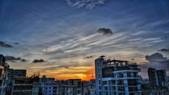 DSC00121_HDR (fahd.b.iqbal) Tags: blue sunset sky tree green birds yellow clouds landscape photography sony dhaka alpha bangladesh hdr gulshan hdrphotography a6300