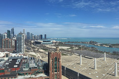 Chicago Lakefront and Soldier Field (rschnaible) Tags: city usa lake chicago building field skyline architecture landscape soldier us football day cityscape nfl sunny front clear