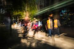 berkeley-057.jpg (Yvonne Rathbone) Tags: berkeley afternoon blur blurry green icm longexposure motion pedestrians street sunlight walking technical 1855mmf3556gvr wideangle