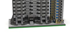 Section DownTown 4 bottom (RedRoofArt) Tags: architecture lego moc mini pica pico building skyscraper city downtown ldd render povray micro