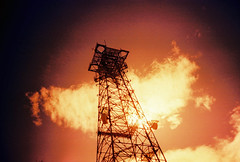 Fried (lomojunkie71) Tags: tower farewell transmission lomo lca film xpro sun clouds alternate universe