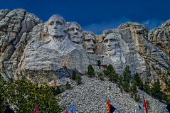 View from entrance to trails--DSC0050--Mount Rushmore, South Dakota (Lance & Cromwell back from a Road Trip) Tags: southdakota sony roadtrip nationalparkservice mountrushmore rocksculpture 2016 sonyalpha mountrushmoresd