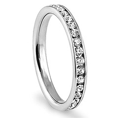 316L Stainless Steel White Cubic Zirconia 3mm Eternity Ring, Size 7 (couponrainbow) Tags: white steel ring size eternity stainless cubic zirconia 316l