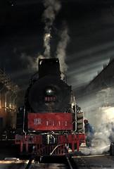 I_B_IMG_7410 (florian_grupp) Tags: china railroad train landscape asia mine desert muslim railway steam xinjiang mikado locomotive ore js steamlocomotive 282 opencastmine yamansu
