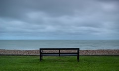 Out to Sea (hall1705) Tags: sea sky seascape beach clouds bench seaside view westsussex shore felpham d3200