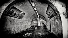 An urban welcome to Brighton and Hove (Andy J Newman) Tags: urban monochrome dark blackwhite brighton hove tunnel dingy unlit