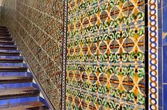 2016 04 25 178 Alcazar, Seville (Mark Baker.) Tags: 2016 andalucia april baker eu europe mark sevilla seville spain alczar castle ceramic city day european fortress indoor palace photo photograph picsmark spring staircase tiles union urban