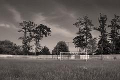 Old football field (BW) (Viktor Cseh) Tags: sunlight grass sunshine hungary fa hungarian tjkp fk napsts f napfny nagyvarsny