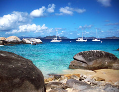 Devil's Bay (Cheyenne_Rae) Tags: beach boats islands bay sand rocks devils virgin british tortola