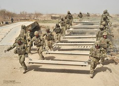 Royal Engineers of 37 Squadron Clear the Way for Bridge Construction in Afghanistan