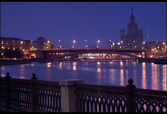 Moscow. Big Krasnokholmsky bridge. Earth Hour. (Yuri Degtyarev) Tags: city bridge 120 night zeiss big earth moscow sony tripod jena mc hour carl yuri alpha 2012 p6 slik  cokin nex p120 pseries biometar 8028 degtyarev     psystem nexc3 gnd33 krasnokholmsky