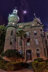 University of Tampa and Moon (Photomatt28) Tags: brick night tampa florida nik hdr topaz universityoftampa oloneo