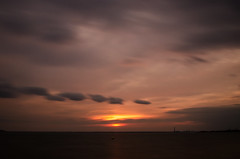 DSC_0841 (Mark J Hall) Tags: longexposure sea seascape clouds 35mm pebbles hampshire slowshutter 2012 gosport markhall stokesbay nikond7000