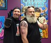 Miami Burgess Memorial Tattoo - Thumbs up, good buddy! (Laurie LS Wright (DoodleBugDezines)) Tags: portrait tattoo memorial escher mcescher memorialtattoo miamiburgess miamiburgessmemorialtattoo