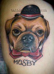 More dapper pet portraits please! (silje/vanilje) Tags: dog portland tattoos scapegoat 2012 porttrait tattoosbysilje