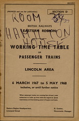 Dedicated to Auchlander (Headcode) Tags: er br lincoln 1967 1968 britishrailways wtt sectiond workingtimetable easternregion auchlander