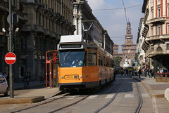 2010-10-06, Milano, Via Dante (Fototak) Tags: milano tram 4900 atm strassenbahn tranvia 4918 ligne27 jumbo2