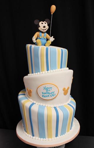Topsy Turvy Baby Mickey Custom Cake